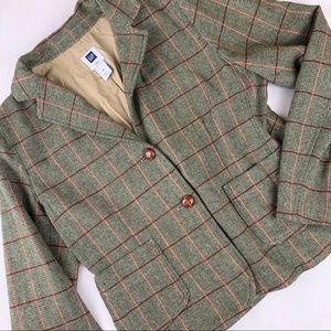 GAP Green and Pink Wool Blazer Size 14
